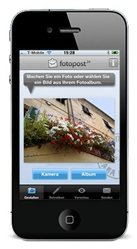 neues app die fotopostkarte aus dem iphone tagesaktuelle fotonews. Black Bedroom Furniture Sets. Home Design Ideas