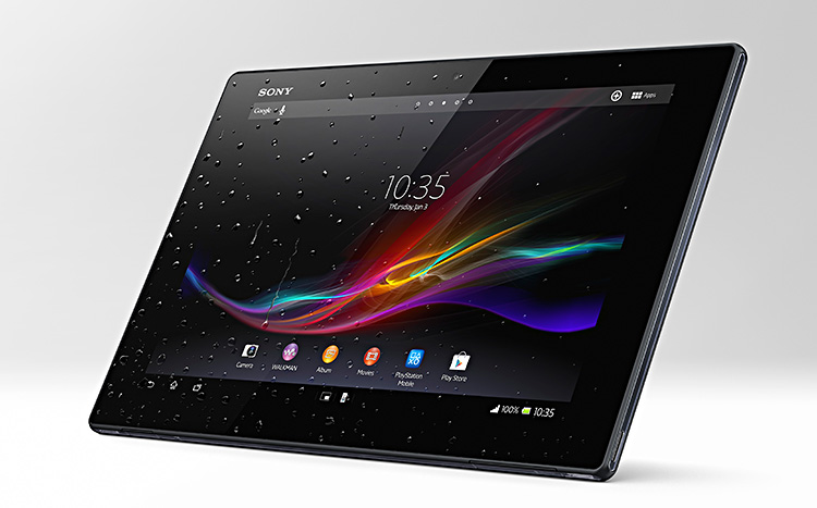 sony xperia tablet z wasserdicht und schnell tagesaktuelle fotonews. Black Bedroom Furniture Sets. Home Design Ideas
