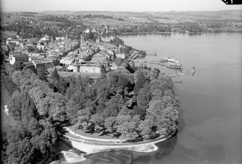 Morges 1954. (Archives cantonales vaudoises, PP 961/4542, © Photo Aéroport Lausanne)