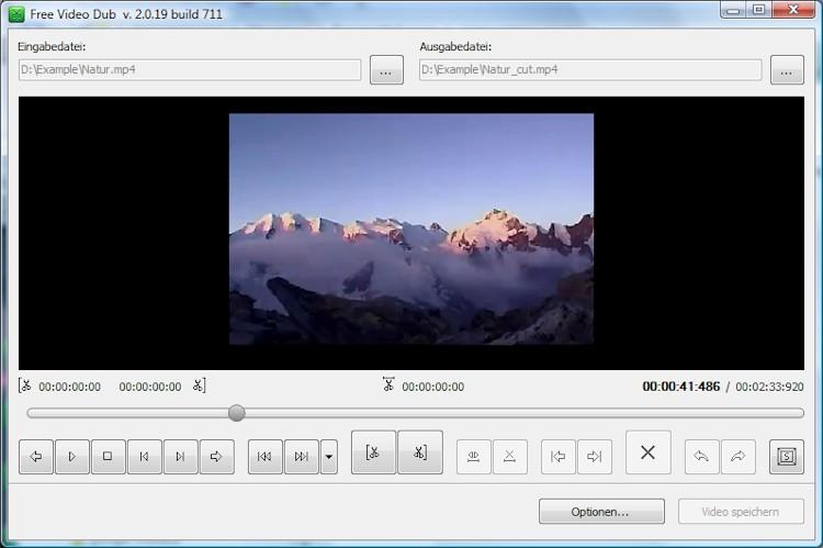 free video dub f r windows mit gratis tool videos einfach schneiden. Black Bedroom Furniture Sets. Home Design Ideas