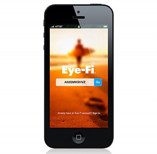Eye-Fi App Mobi auf iPhone5