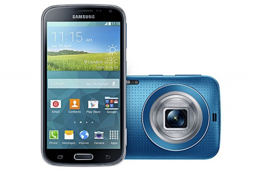 Samsung Galaxy K zoom electric blue Front.Back