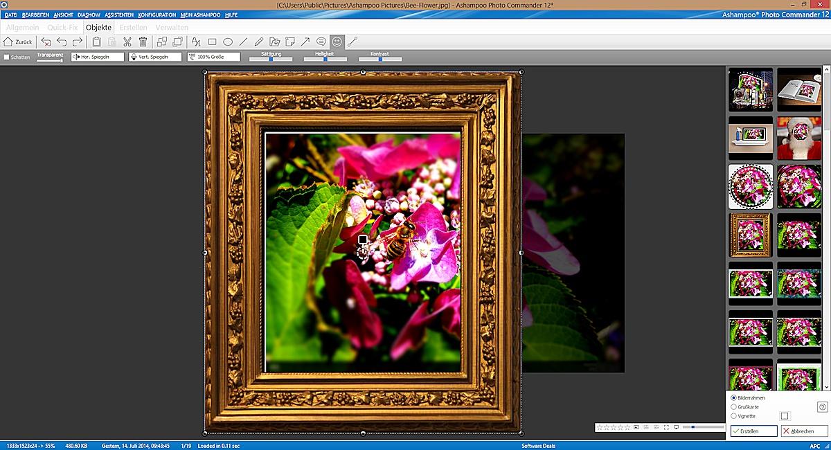 ashampoo photo commander 12 bildbearbeitung jetzt kostenlos tagesaktuelle. Black Bedroom Furniture Sets. Home Design Ideas