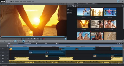 Magix Video deluxe 2015 Classic Screen