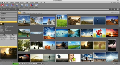 Magix Foto Manager 15 Deluxe Mainscreen