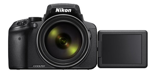 Nikon Coolpix P900 frontal seitliche LCD