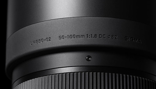 Sigma 50-100mm F18 DC HSM Art Design1