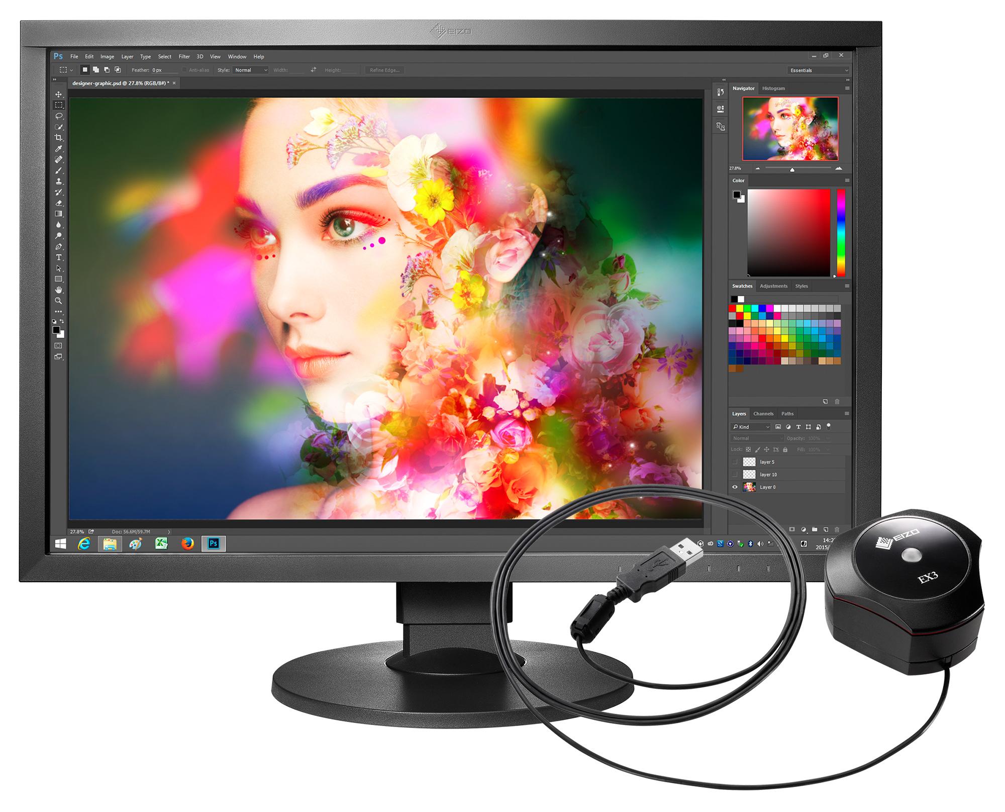 Eizo pr sentiert drei neue coloredge monitore im 24 zoll for Ecran photo eizo