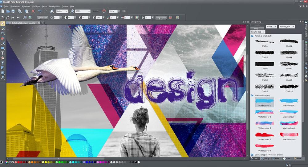 foto grafik designer von magix v12 mit mehr fotowerkzeugen und effekten. Black Bedroom Furniture Sets. Home Design Ideas