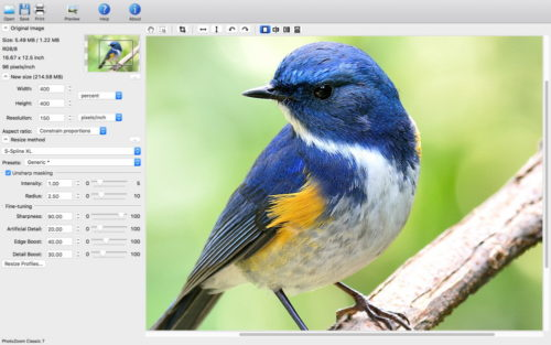 PhotoZoom Classic 7 Screenshot Mac