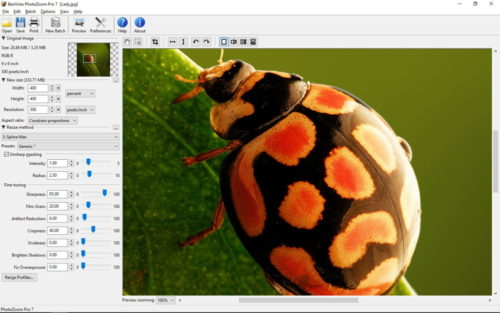 PhotoZoom Pro 7 Screenshot Win