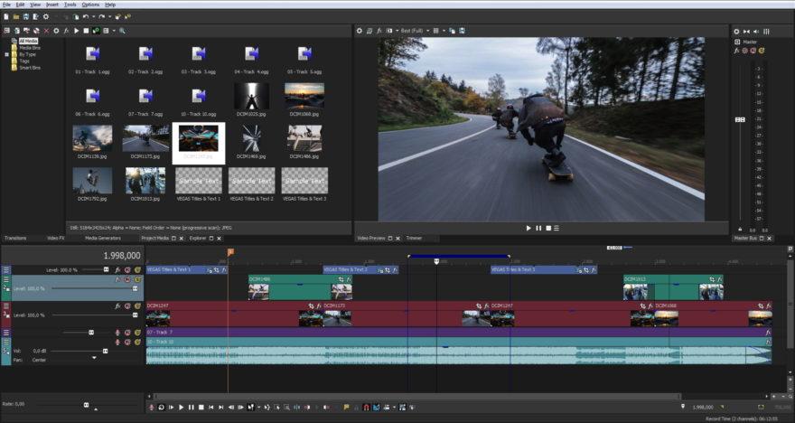 Magix Vegas Pro 15 Screenshot