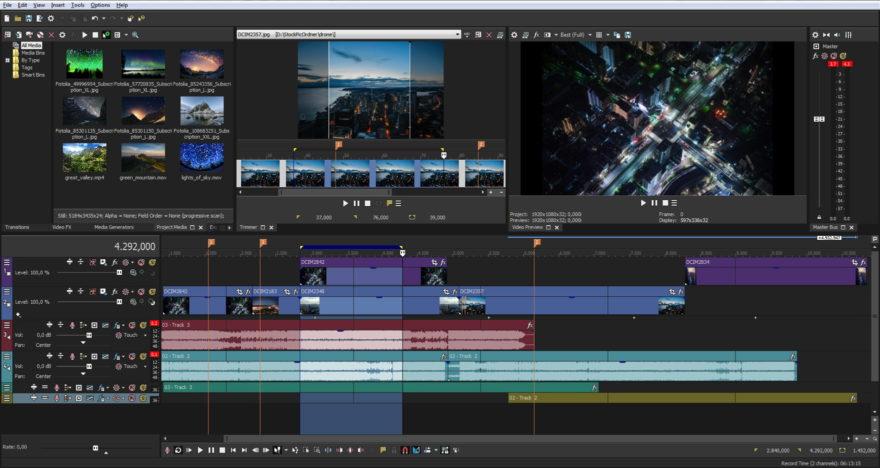 Magix Vegas Pro 15 Suite Screenshot