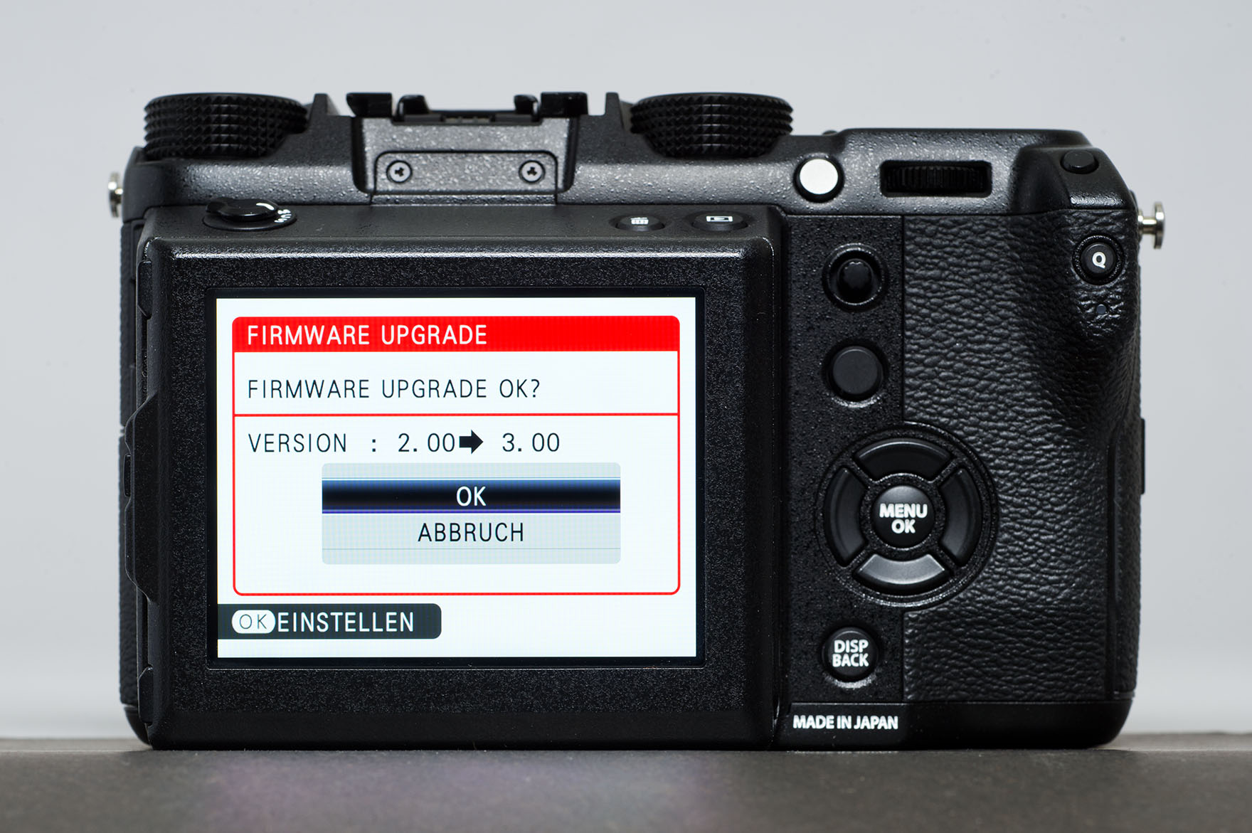 fuji x-t2 how to update firmware