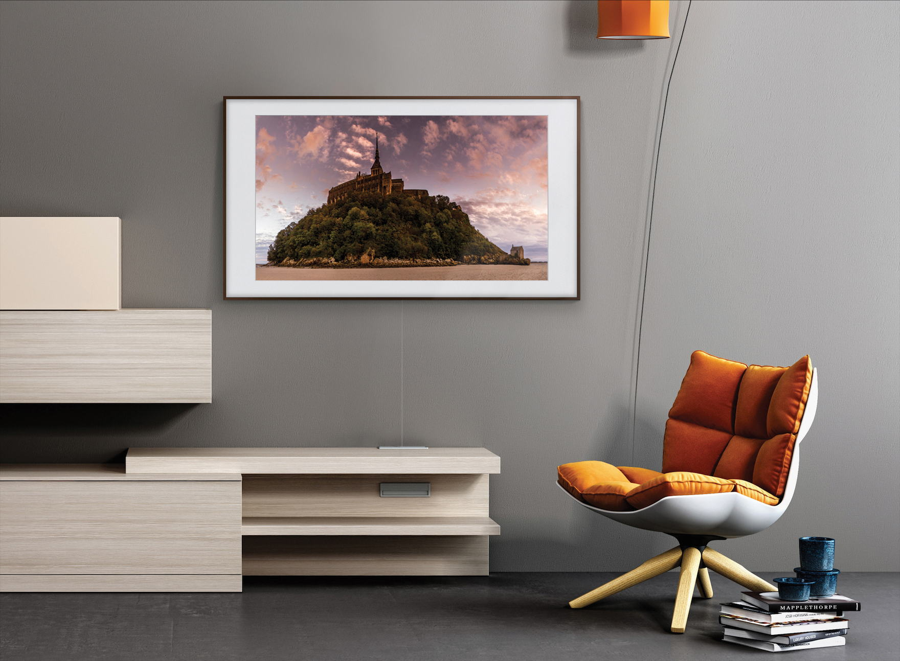 samsung the frame 2 0 tv und digitaler bilderrahmen samt poster shop. Black Bedroom Furniture Sets. Home Design Ideas