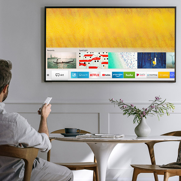 tv als bilderrahmen samsung aktualisiert ihre tvs der. Black Bedroom Furniture Sets. Home Design Ideas