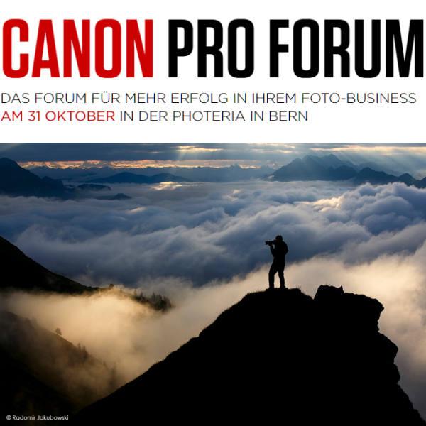 Canon Pro Forum für mehr Erfolg im Foto-Business - fotointern.ch – Tagesaktuelle Fotonews